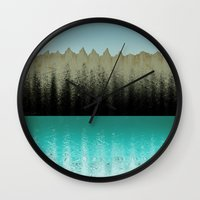 cabin Wall Clocks featuring Cabin View by Tammy Kushnir