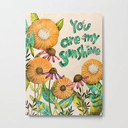 You are My Sunshine- Illustration Metal Print