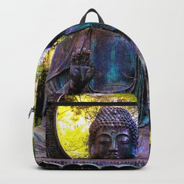 Buddha in the park Backpack