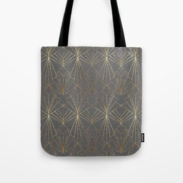 Art Deco in Gold & Grey Tote Bag