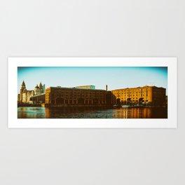 Albert Dock and Three Graces Art Print