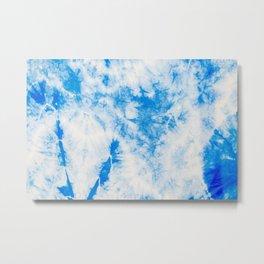 Clouds Tie-Dye Hippie Fabric Texture Surface 61 Metal Print