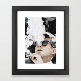 Cool John Kennedy Cigar Sunglasses Framed Art Print