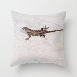 Heat-Loving Lizard Throw Pillow