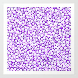 Gothic Crowd ULTRA VIOLET Art Print