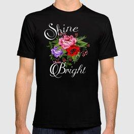 Cute Chic Love Life Flowers Gift T-shirt