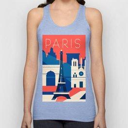 Abstract Paris Unisex Tank Top