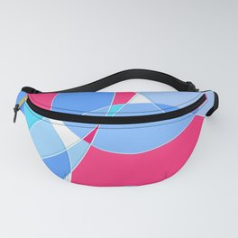 Abstract Wavy Visual Graphic Design V.2 Fanny Pack
