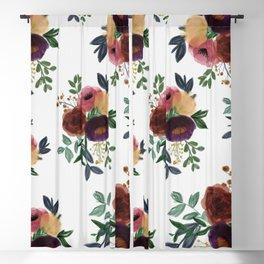 Floral Watercolor Bouquet Pattern Blackout Curtain