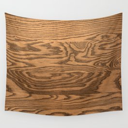 Wood 5, heavily grained wood Horizontal grain Wall Tapestry