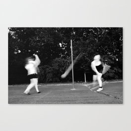 Black and White Tetherball  Canvas Print
