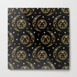 Celestial pattern in tribal style and ethnic motif Metal Print