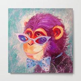 The monkey is a gentleman Metal Print