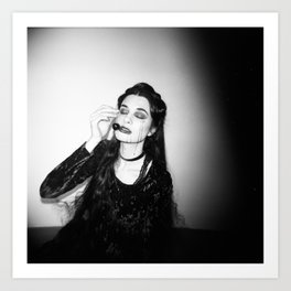 """Marigold"" Dark Fashion Holga Photo Art Print"