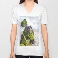 sublime V-neck T-shirts featuring Sublime Slime by Kim Ramage