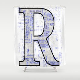 "Proud to be ""R"" Shower Curtain"