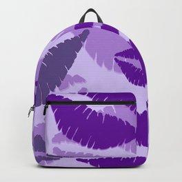 Lips violet pink background Backpack