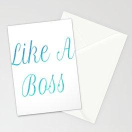 Like A Boss Travel Mug Stationery Cards