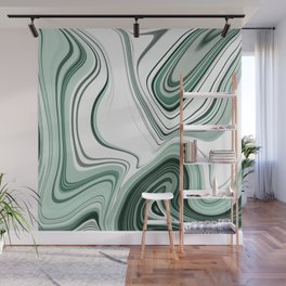 Bold Green Agate Stone Effect Design Wall Mural