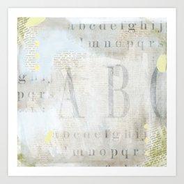 Artisan ABCs Art Print