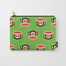 Julius Monkey Pattern by Paul Frank - Green Carry-All Pouch