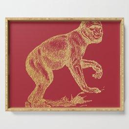 Gold monkey on samba Serving Tray