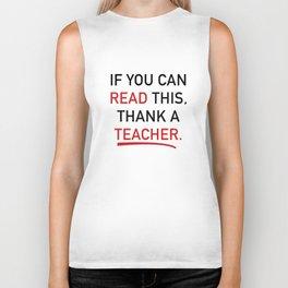 Thank A Teacher Biker Tank