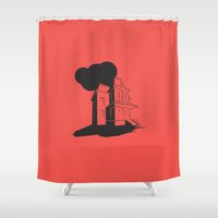 psycho Shower Curtains featuring Psycho by Michael Deeg