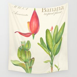 Banana Tropical Flower Retro Poster Wall Tapestry