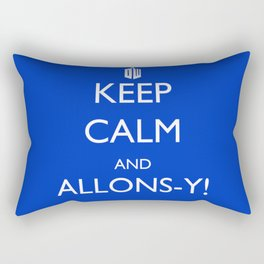 Keep Calm and Allons-y! Rectangular Pillow