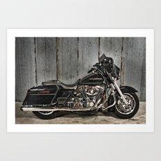 Black Harley Street Glide Art Print