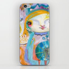 Moon Face iPhone Skin
