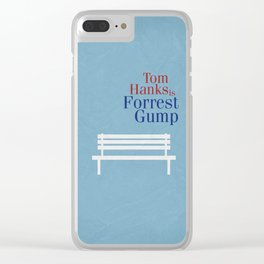 Forrest Gump 01 Clear iPhone Case