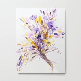 Fall Floral Watercolor Metal Print