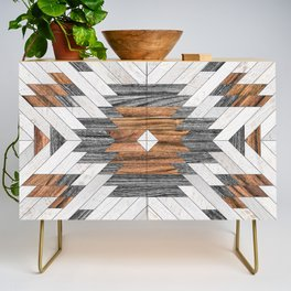 Urban Tribal Pattern No.8 - Aztec - Wood Credenza