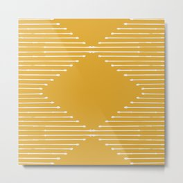 Geo / Yellow Metal Print