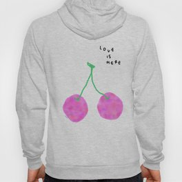 Words from Cherry - fruit love illustration wedding gift Hoody