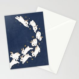 Rabbits run Stationery Cards
