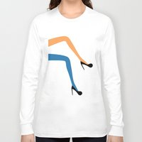 legs Long Sleeve T-shirts featuring legs by ladina steinegger