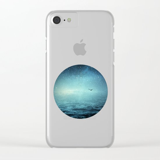 the sea and the universe Clear iPhone Case