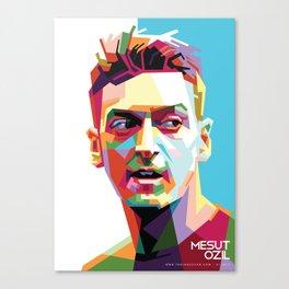 Mesut Ozil WPAP 2 Canvas Print