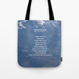Breathe God- Mountains Tote Bag