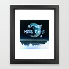 Stay wild moon child (dark) Framed Art Print