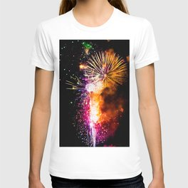 Fireworks Display Addison Texas Kaboom Town 2017 T-shirt