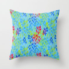 Picnic Pals paint in blueberry Throw Pillow