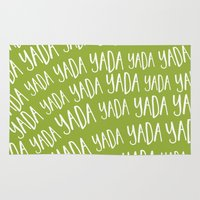 seinfeld Area & Throw Rugs featuring Yada Yada Yada by TwoPoochPaperie
