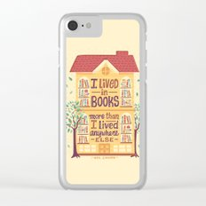 Lived in books Clear iPhone Case