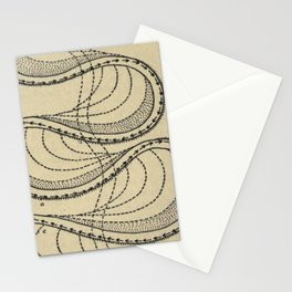 River Formation Diagram Stationery Cards