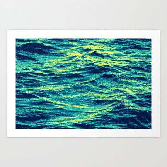 OVER THE OCEAN Art Print