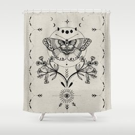 Magical Moth Shower Curtain